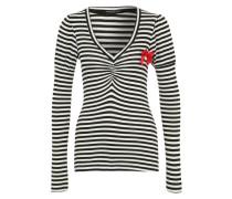 Streifenshirt 'Lally' schwarz / weiß