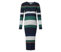 Kleid Gabriele navy / grün / orange / weiß