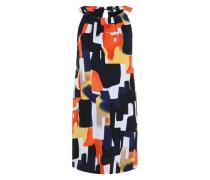 Schulterfreies Kleid mit Digitalprint blau / orange