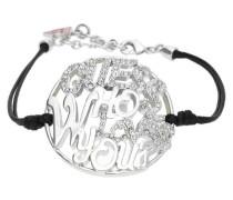 Armband Silber/Schwarz Ubb12201 schwarz