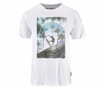 Print T-Shirt mischfarben / weiß