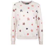 Sweatshirt 'velvet Stars' violettblau / pink / rosa / pastellpink