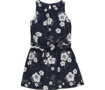 Kinder Kleid dunkelblau / weiß