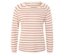 Strickpullover 'Sfnive' rosé / weiß
