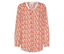 Bluse orangerot / rosa