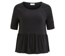 Peplum-Bluse mit 2/4 Ärmeln schwarz