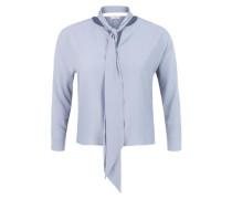 Jacquard-Bluse mit Schluppe blau