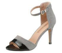 Sandalette grau / schwarz