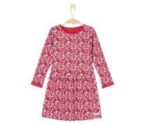 Kleid im Millefleurs-Design blau / rot / weiß