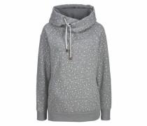 Kapuzensweatshirt graumeliert / weiß