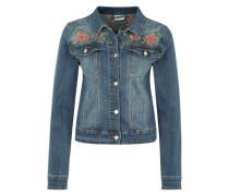Jacke mit Stickerei blau