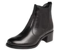 Stiefelette aus Leder schwarz