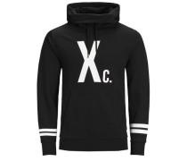 Sweatshirt Print schwarz / weiß