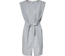 Blusenkleid grau / weiß