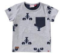 Baby T-Shirt für Jungen dunkelblau / graumeliert