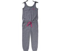 Jumpsuit dunkelgrau / pink