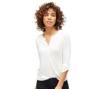 Bluse mit Punkte-Struktur weiß