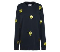 Sweatshirt mit Smileys dunkelblau
