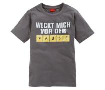 """T-Shirt """"Weckt mich vor der Pause"""" für Jungen schlammfarben"""