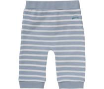 Baby Sweathose für Jungen taubenblau / weiß