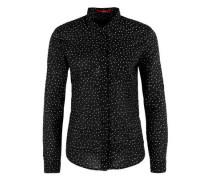 Feine Sternchen-Bluse schwarz