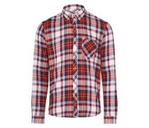 Casual Hemd dunkelblau / rot / weiß