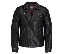 Bikerjacke 'jorpistol Punk Jacket' schwarz