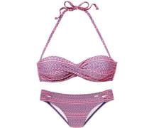 Bügel-Bandeau-Bikini mit abnehmbaren Trägern hummer