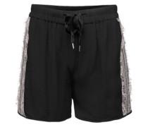 Shorts aus Viskosekrepp 'Day Prim' schwarz