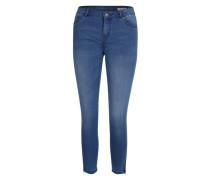 Ankle-Jeans mit Zippern blau
