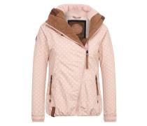 Jacke 'Rand der Gesellschaft' rosa / weiß