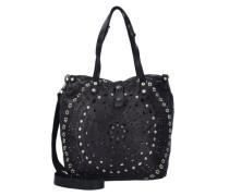 'Echinacea Shopper' Tasche 33 cm schwarz
