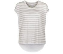 Shirt 'Berlin Stripe Linen' beige / weiß