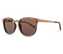 Sonnenbrillen Alfons Zebrano braun