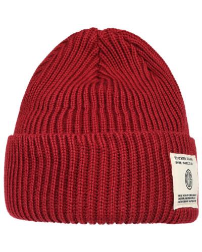 Mütze 'Delta Beanie' rot / weiß