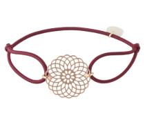 Armband 'Sun' rosegold / bordeaux