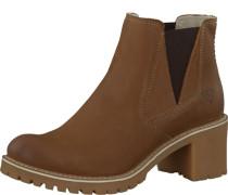 Chelsea Boots mit Blockabsatz braun