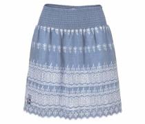 Faltenrock blue denim / weiß