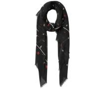 Langer Schal mischfarben / schwarz