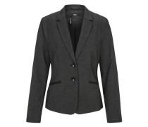 Taillierter Fil-a-fil-Blazer schwarz