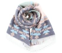 Schal mit Ethno-Muster grau