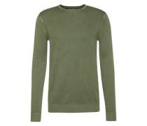 Sweatshirt 'thdm Textured CN Sweater L/S 17' mit Struktur dunkelgrün
