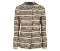 Modisch geschnittene Jacke mit grafischem Muster