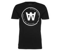 T-Shirt mit Print 'Seal' schwarz