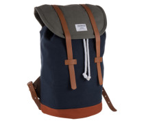 Unisex-Rucksack mit Lederdetails 'Stig' blau / dunkelblau / grau