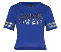 Basicshirt 'Shine' blau