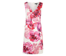 Etuikleid mit Blumenmuster pink / offwhite