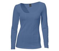 Corsagen-Shirt mit langen Ärmeln blau