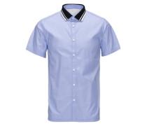 Clean-Cut-Kurzarmhemd blau