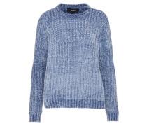 Strick-Pullover blau